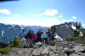 The group (minus AnRen) on Grey Wolf Ridge.