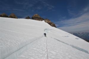 Crevasse on the upper Blue Glacier.